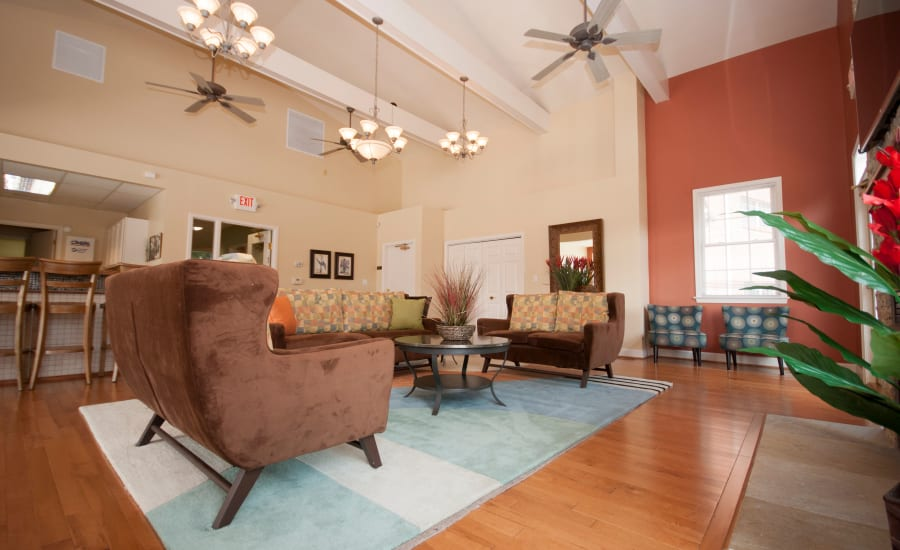 Living room at Westgate Apartments & Townhomes in Manassas, Virginia