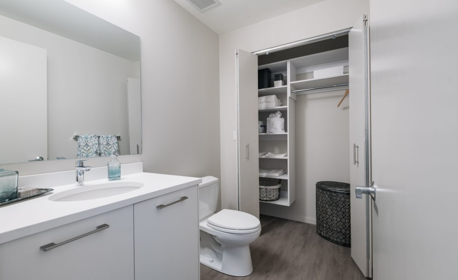Bathroom at Residences at 8 East Huron in Chicago, Illinois