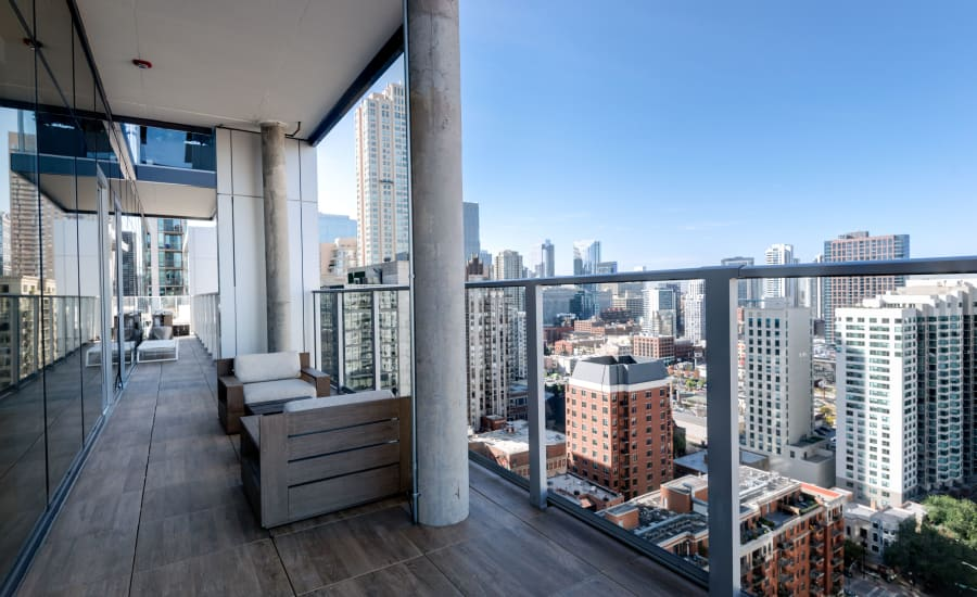 View of Chicago, Illinois from Residences at 8 East Huron