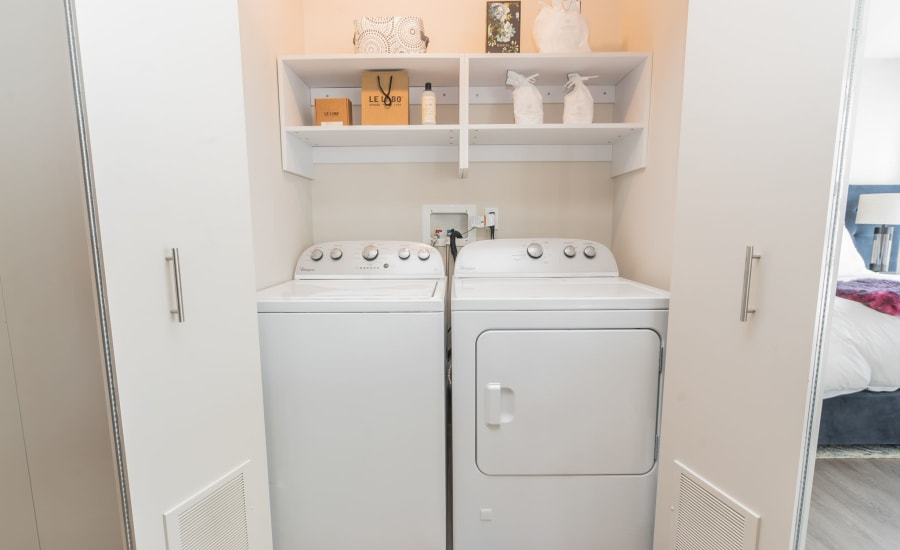 In-unit washer and dryer at Residences at 8 East Huron in Chicago, Illinois