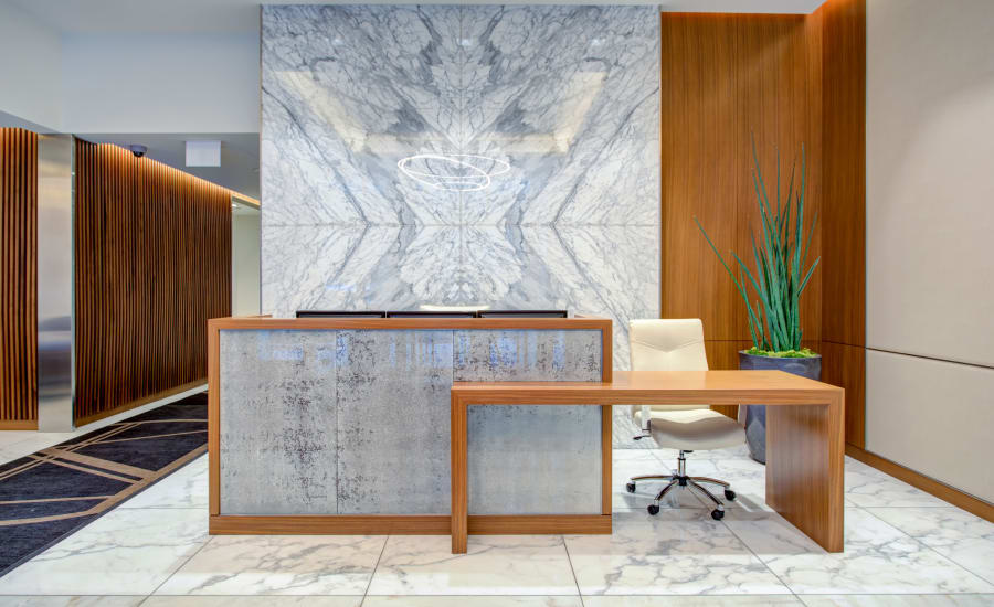 Stunning lobby at Residences at 8 East Huron in Chicago, Illinois