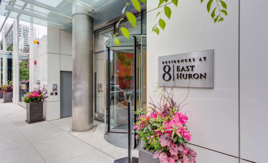 Entrance to Residences at 8 East Huron in Chicago, Illinois