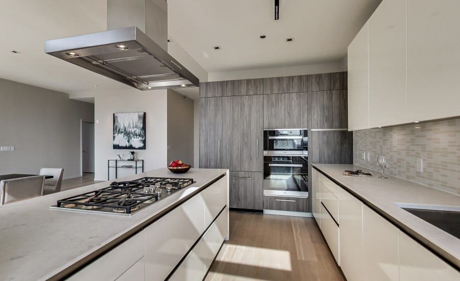 Modern kitchen at Residences at 8 East Huron in Chicago, Illinois