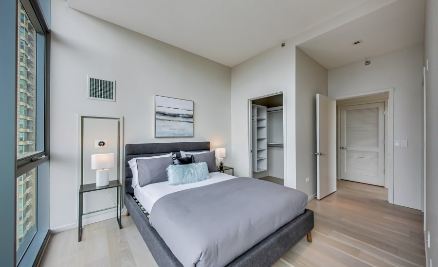 Bedroom at Residences at 8 East Huron in Chicago, Illinois