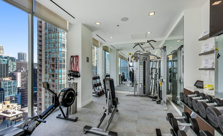 Gym at Residences at 8 East Huron in Chicago, Illinois
