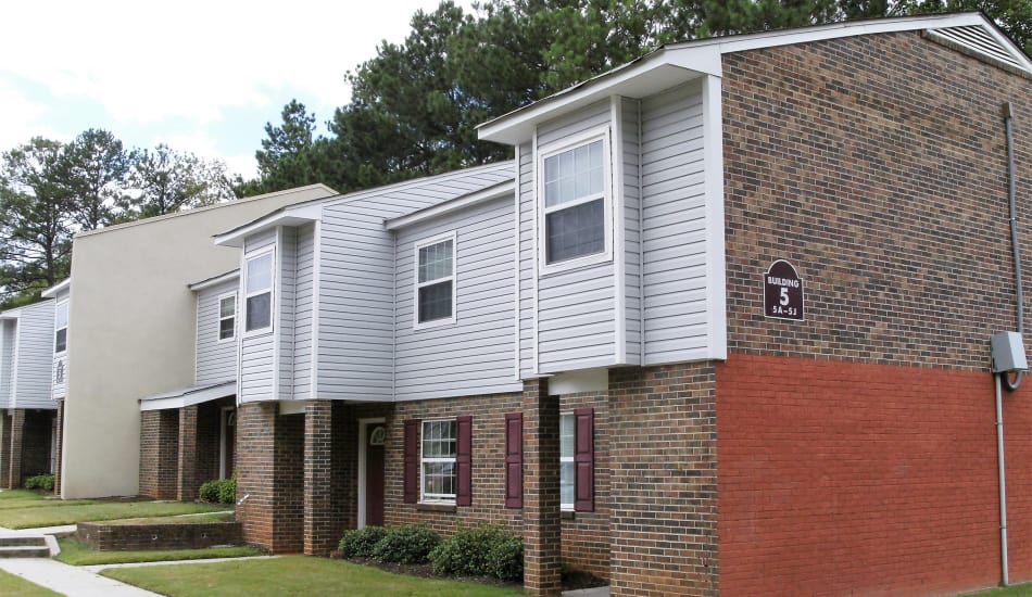 Douglass Village Apartments with a brick facade