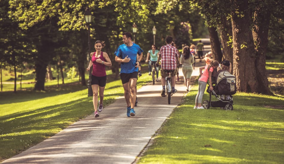 Go for a jog in one of the parks surrounding Stonegate Village Apartments