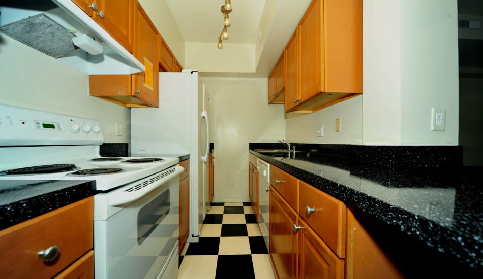 Spring Garden Apartments offers a fully equipped kitchen in Silver Spring, MD