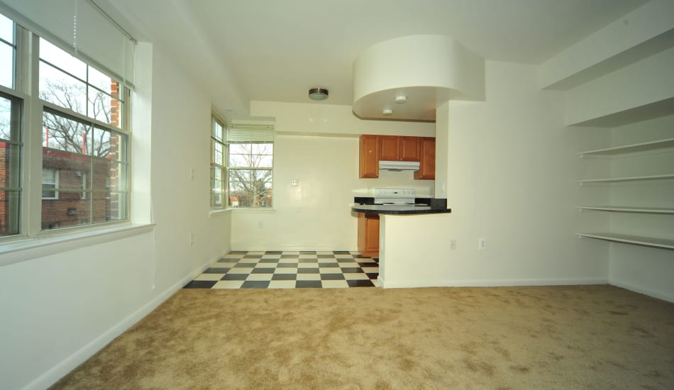 Spring Garden Apartments offers a kitchen in Silver Spring, MD