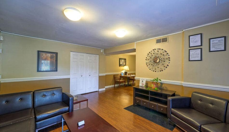 Luxury living room at apartments in Capitol Heights, Maryland