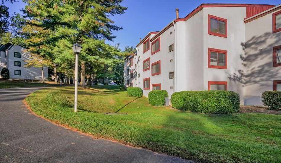 Building Exterior at Stonegate Village Apartments in Reston, VA