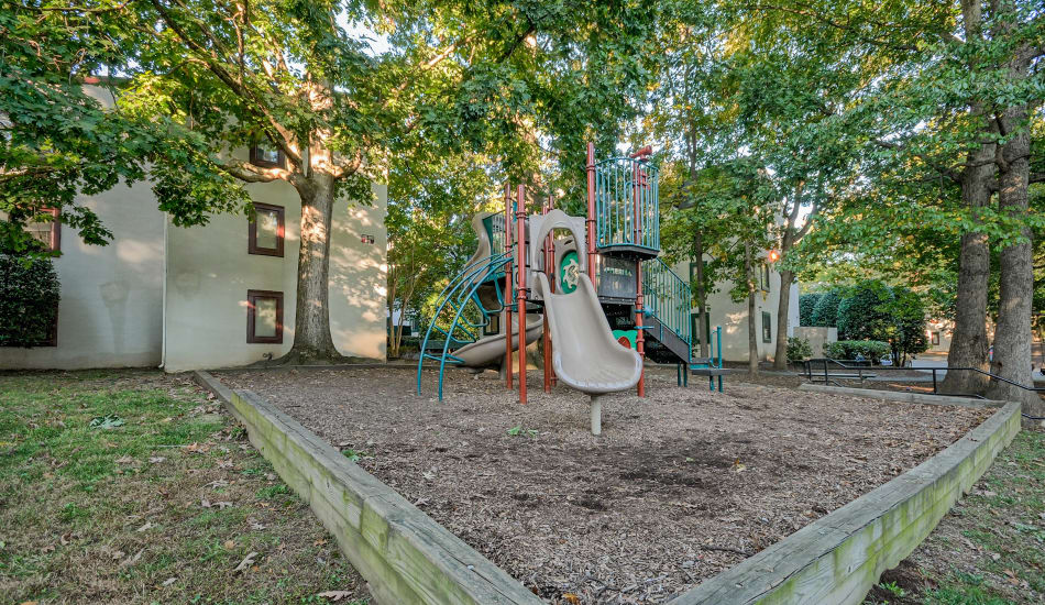 A children's playground is onsite for your enjoyment at Stonegate Village Apartments