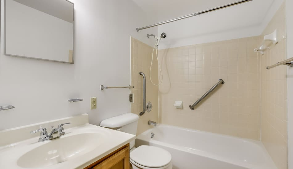 Example bathroom at apartments in Cumberland