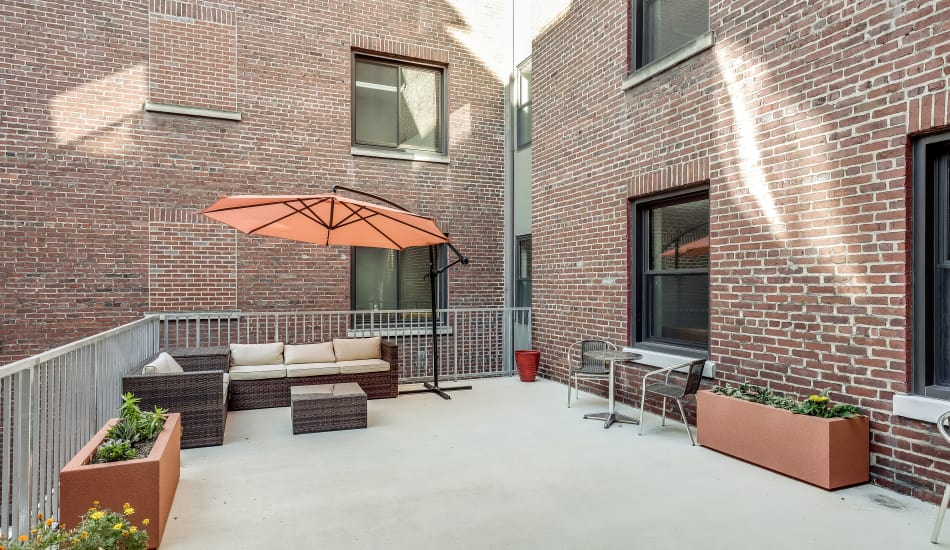 Exterior Patio at Cumberland Arms Apartments