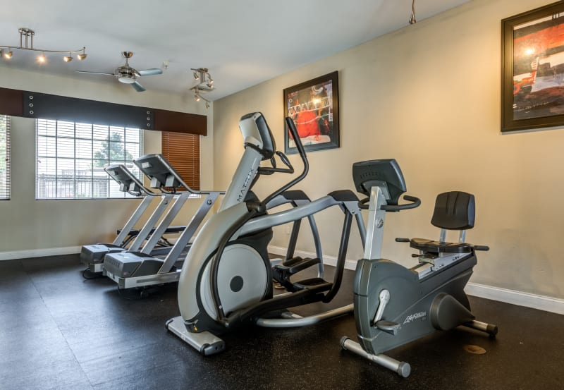 Exercise equipment at Vista Imperio Apartments in Riverside, California