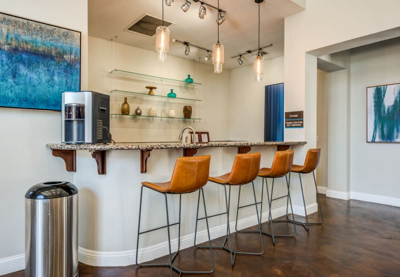 Bar in kitchen at Vista Imperio Apartments in Riverside, California