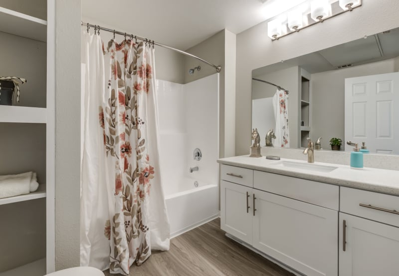 Vista Imperio Apartments in Riverside, California offers a bathroom