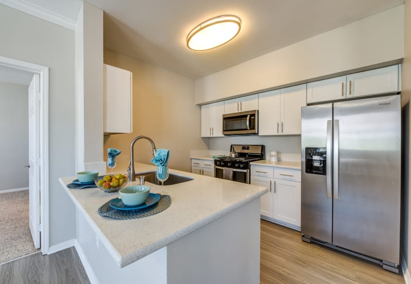 Kitchen at Vista Imperio Apartments in Riverside, California