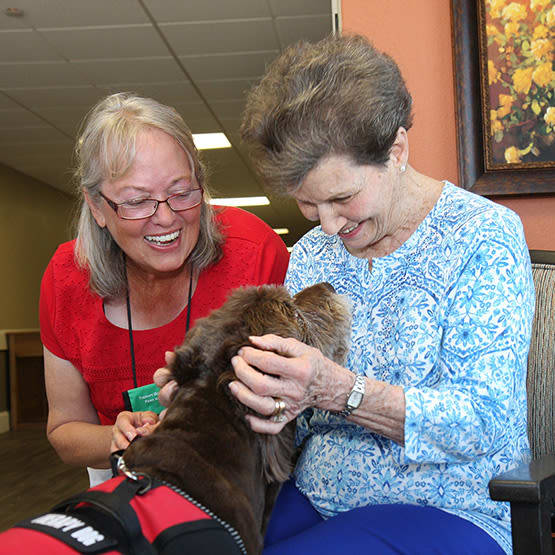 pet therapy at Legacy Ranch in Midland,TX