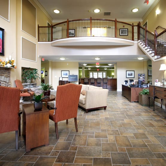 Our spacious common room at Reunion Court of Kingwood in Kingwood, Texas