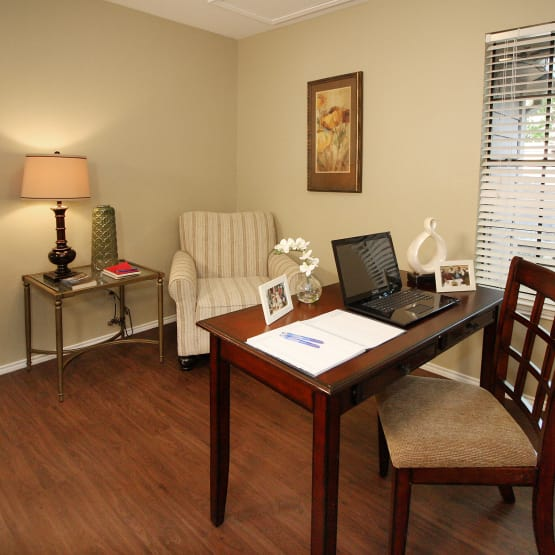 Desk for our residents at West Fork Village in Irving, Texas