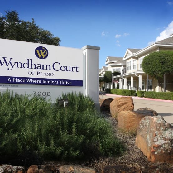 Sign of Wyndham Court of Plano in Plano, Texas