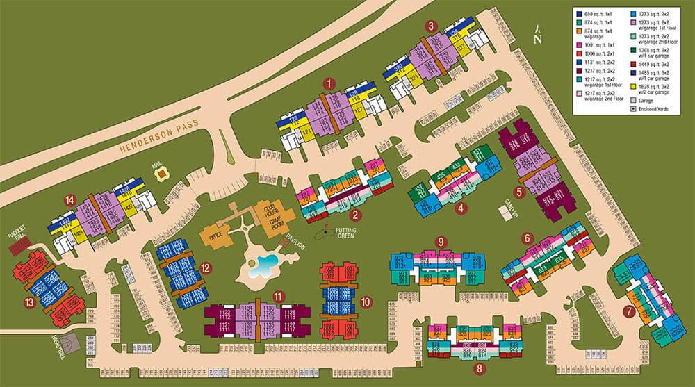 Site map of The Estates of Northwoods in San Antonio, TX