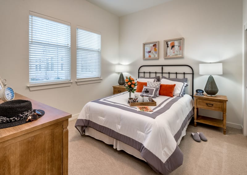 Model bedroom at Clearwater at Rancharrah in Reno, NV