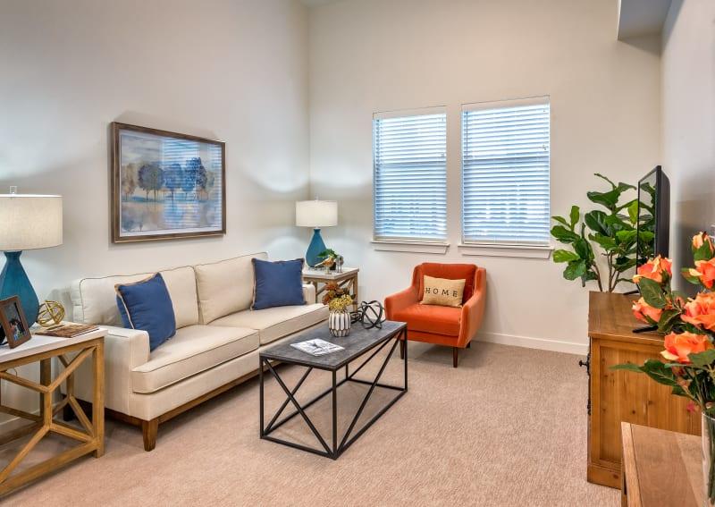 Beautiful living room at Clearwater at Rancharrah in Reno, NV