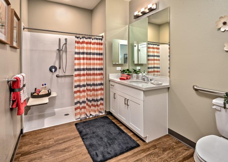 Spacious bathroom at Clearwater at Rancharrah in Reno, NV