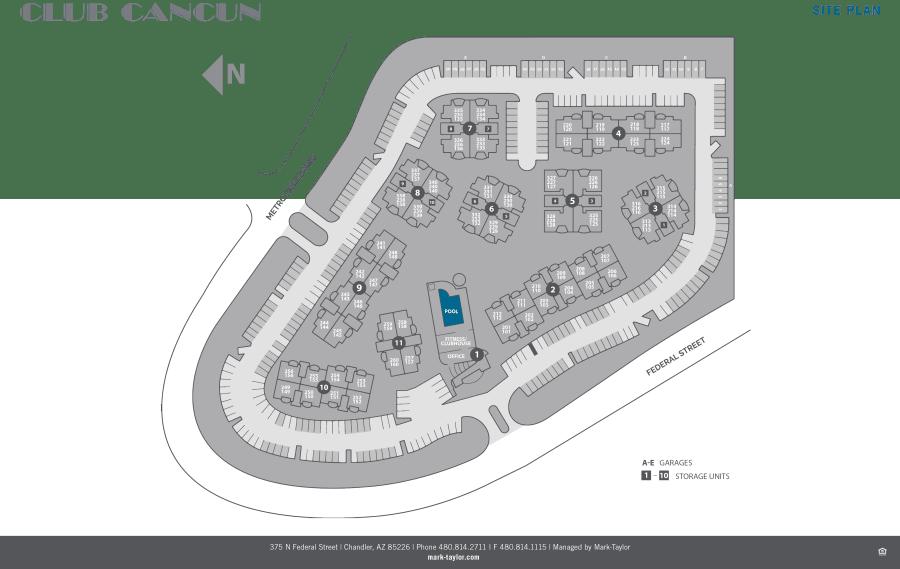 Club Cancun site plan