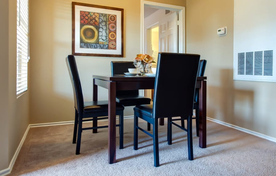 Dining room in a CWS Home Services home