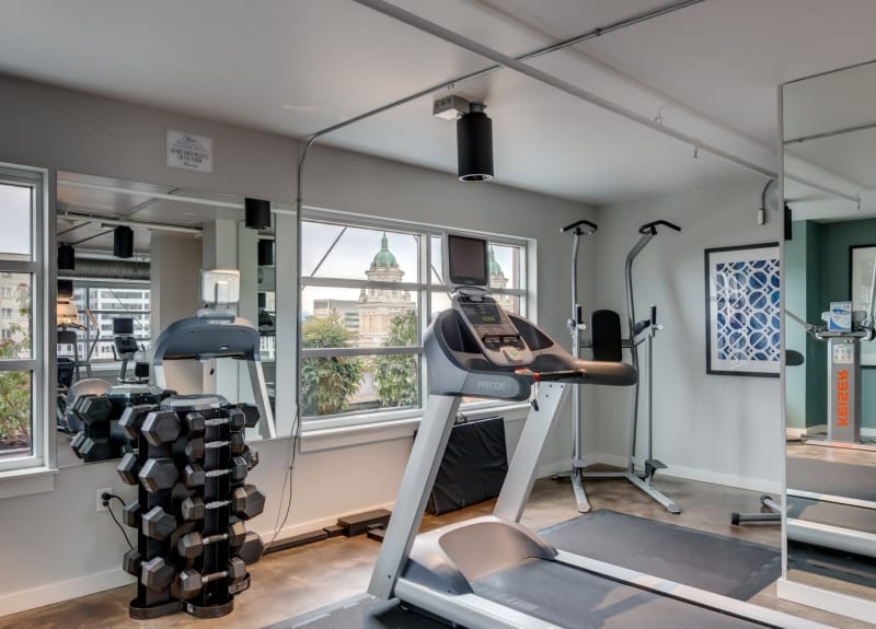 Fitness center at M Street in Seattle, Washington