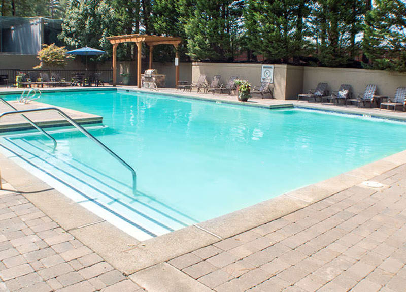 Well-maintained swimming pool at The Franklin in Marietta, Georgia