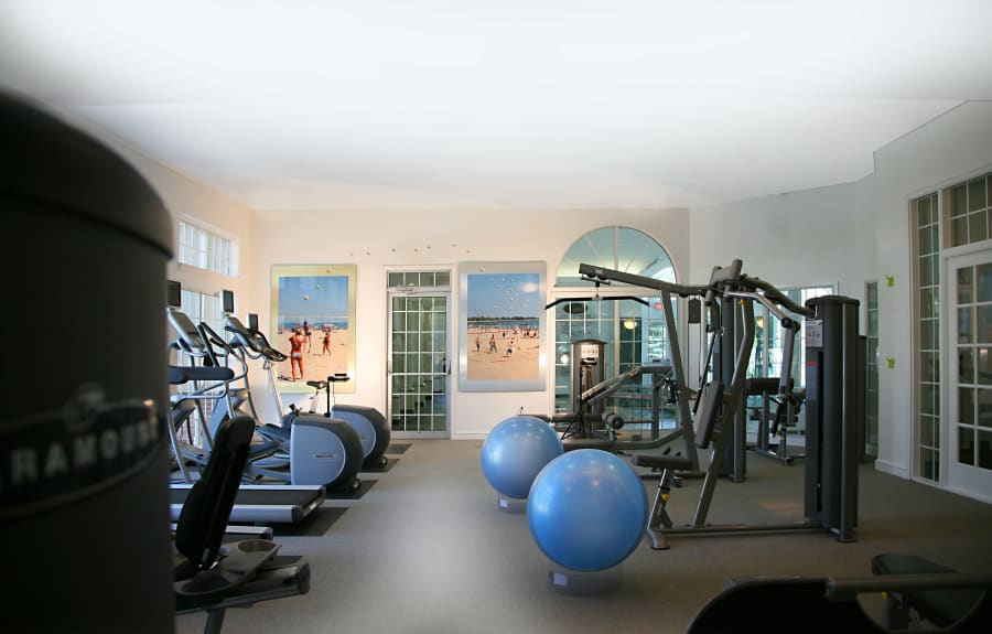 Spacious Fitness center at Citation Club in Farmington Hills, MI