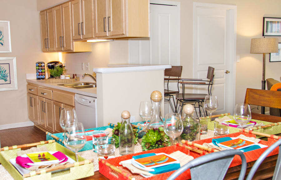 Kitchen and dining room at Arbor Brook in Murfreesboro, Tennessee