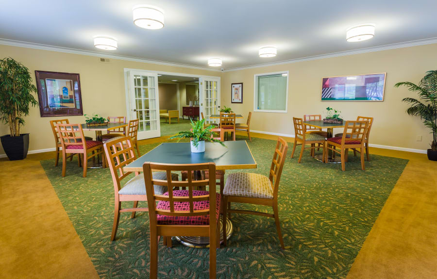 Resident clubhouse at Farmington Oaks Apartments in Farmington, Michigan