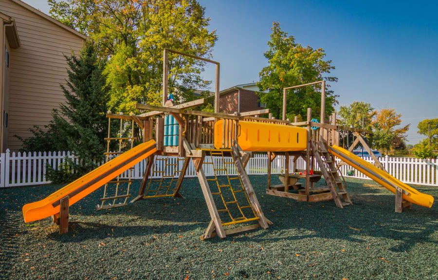 Onsite playground at Creek Club Apartments in Williamston, Michigan