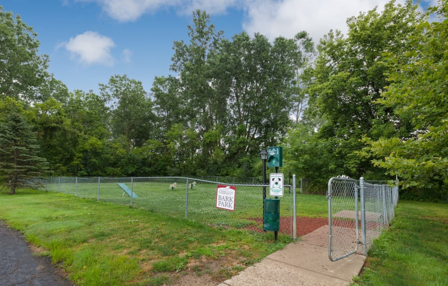 Dog park at Creek Club Apartments in Williamston, Michigan