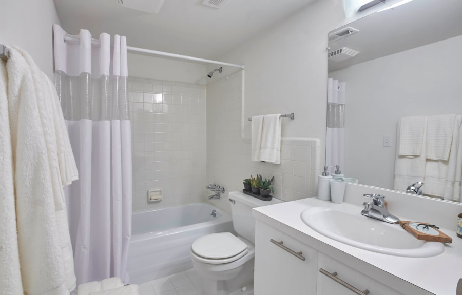 Master bathroom in model home at Muirwood in Farmington/Farmington Hills, Michigan