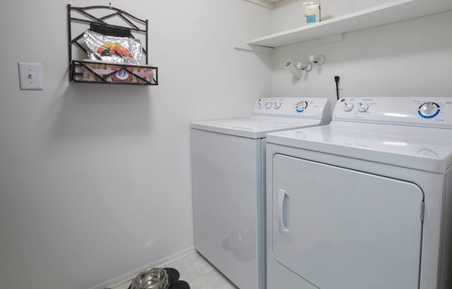 In-home washer and dryer at Muirwood in Farmington Hills, Michigan
