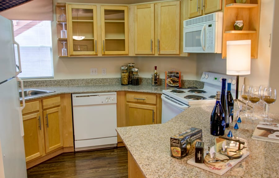 Fully equipped model kitchen at The Golf Villas at Oro Valley in Tucson, Arizona