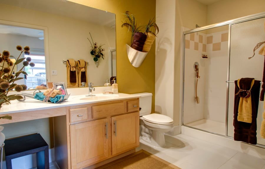 Spacious bathroom at The Golf Villas at Oro Valley in Tucson, Arizona