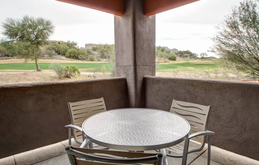 Outdoor patio at The Golf Villas at Oro Valley in Tucson, Arizona