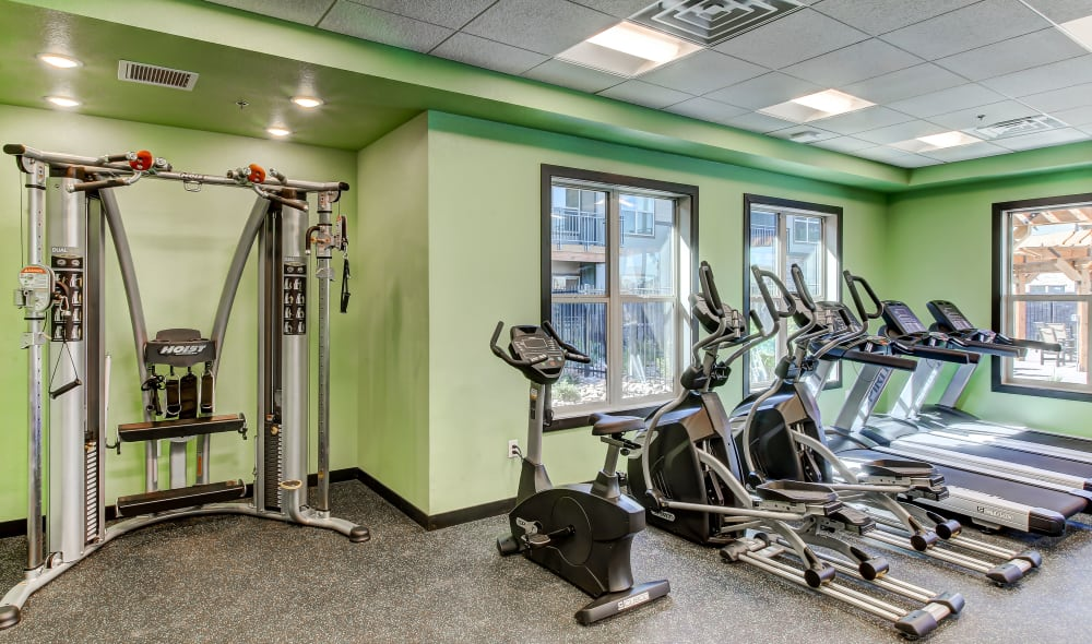 Clubhouse fitness center at Timnath Trail