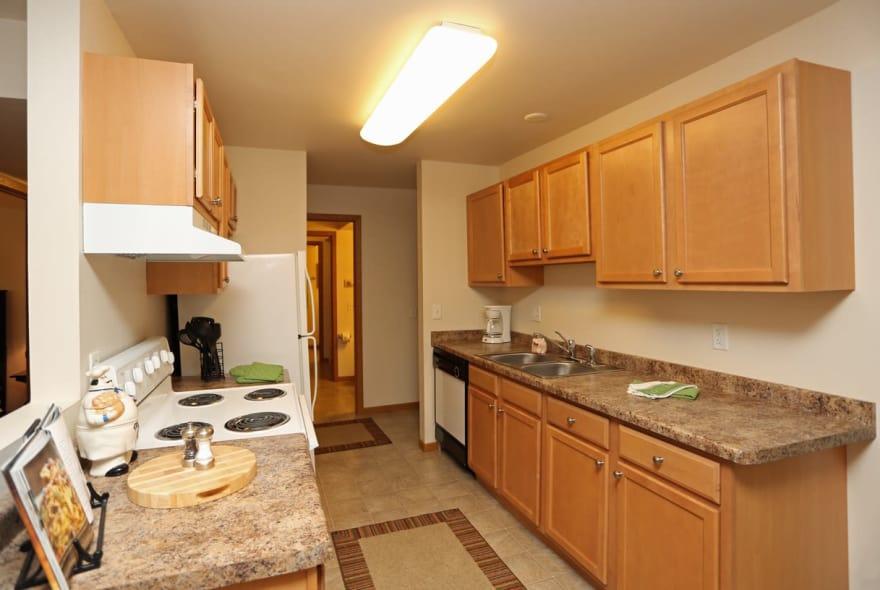Spacious kitchen at Sun Valley Apartments