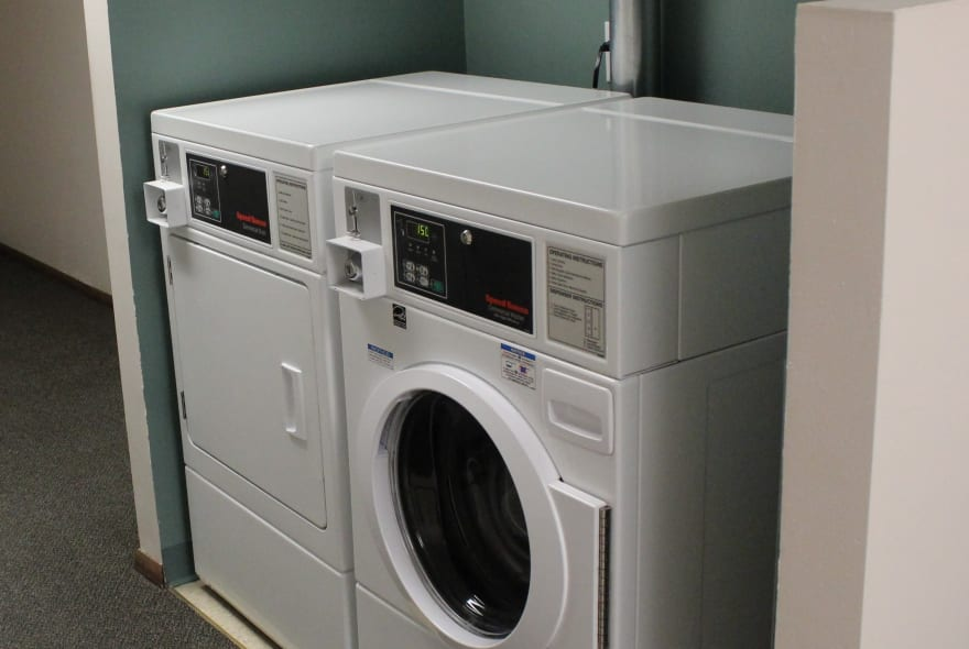 Washer and dryer at Sun Valley Apartments in Fitchburg, WI