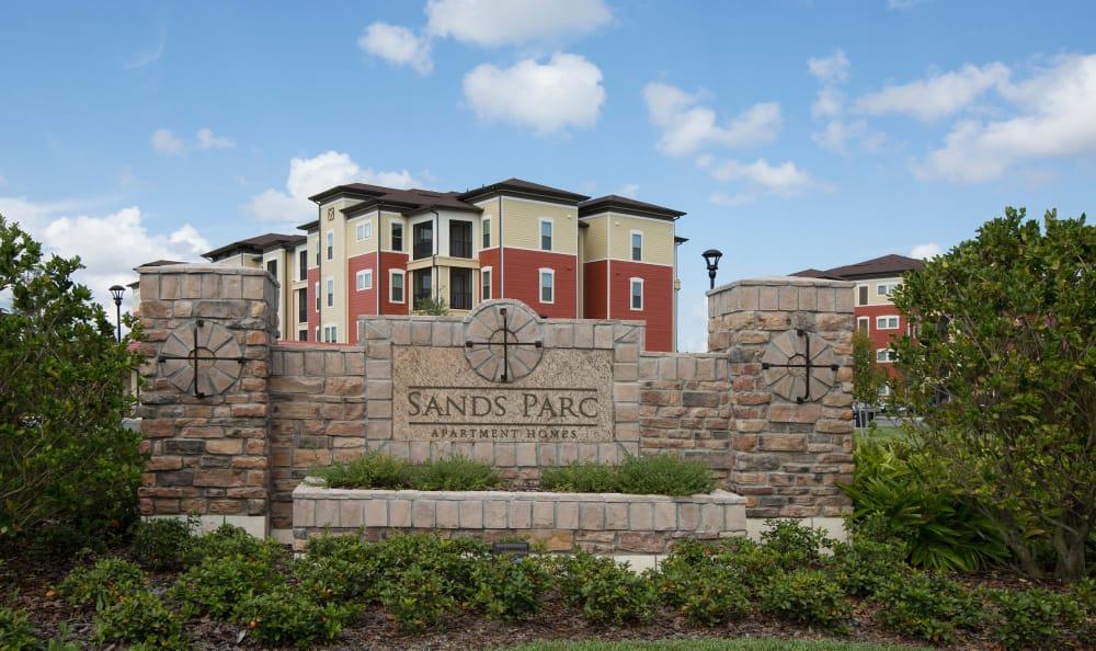 Entrance at Sands Parc