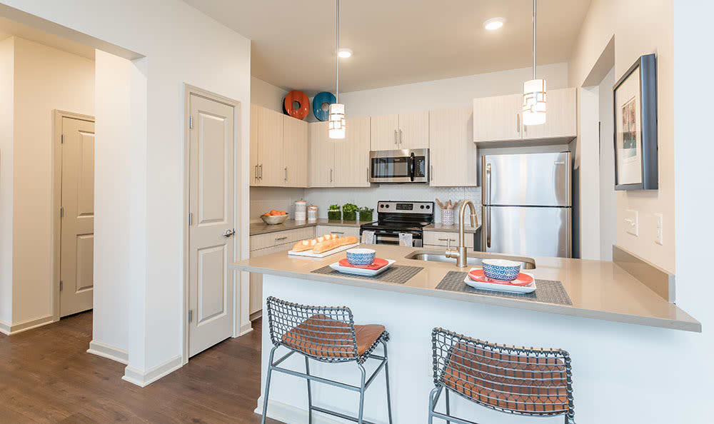 Open floor plans at Fairview at Town Center in Rochester, NY