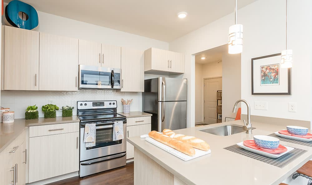Inviting kitchen at Fairview at Town Center